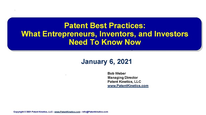 Weber - Patent Best Practices January 6 2021-small